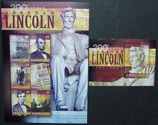ST. VINCENT 2009 Abraham Lincoln US-Präsident 6603-8 + Bl.687  ** MNH