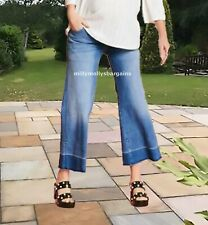 New Womens Blue Ankle Wide Leg NEXT Maternity Crop Jeans Size 12 10 8 RRP £32