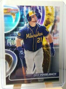 Dan Vogelbach 2020 BOWMANS Best #57 Base Refractor Milwaukee Brewers