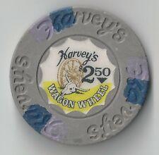 $2.50 Lake Tahoe 16Th Edt Harveys Casino Chip Nevada Wagon Wheel Horn