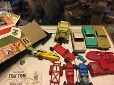 Vintage Marx Race Car Plastic Toy Road Rally Track + Misc Other. Look!