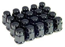 20 Pc BLACK CHEVROLET CAMARO CUSTOM BULGE ACORN WHEEL LUG NUTS 12m x 1.5 #1907BK