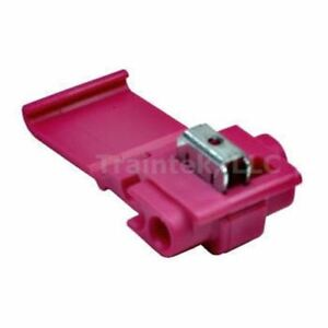 Deluxe Red Suitcase IDC Wire Tap Connectors, 22-16 ga (25)