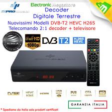 Decoder Digitale Terrestre nuova generazione HD DVB-T2 HEVC HDMI e SCART