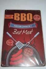 Tin Metal Sign Plaques Signs vintage Man cave pub garage shed BBQ fresh cooked