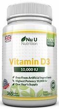 Vitamin D3 10000iu High Strength 365 Soft Gel capsules 10,000iu per capsule
