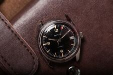 DIVER BLACK VINTAGE FOR PIECES OR REPAIR WATCH SWISS SUB ORVIN MANUAL WIND