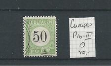 CURACAO PORT P10-III   LUXE VFU/gebr CV 40 €