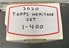 2020 TOPPS HERITAGE BASEBALL COMPLETE SET 1-400 COMPLETE MINT SET RC'S