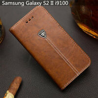 For Samsung Galaxy S2 II i9100 Slot Wallet Cover 4.3'' Pu Leather Phone Case
