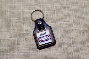 Austin Maxi Keyring - Leatherette & Chrome keyfob