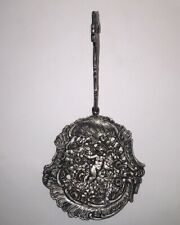 Vintage Antique Kremos Roma 800 Silver Cherub monkey Berry spoon Ladle w/ Roses