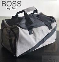 🆕💙💙HUGO BOSS  GREY OVERNIGHT DUFFLE HOLDALL GYM WEEKEND BAG *NEW !!
