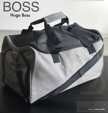 🆕💙💙HUGO BOSS  GREY OVERNIGHT DUFFLE HOLDALL GYM WEEKEND BAG *NEW !!