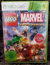 XBOX 360 gioco LEGO MARVEL SUPER HEROES senza manuale Buone condizioni + OVP