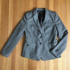 Ann Taylor Petites Wool Blend Office Career Brown Blazer Petite Size 2 2P