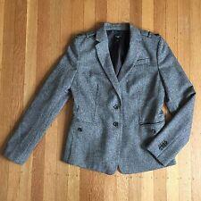 Ann Taylor Petites Wool Blend Office Career Brown Blazer Petite Size 2 2P