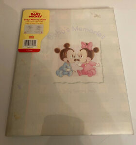 Vintage Disney Baby Mickey Mouse Memory Record Book Picture Album Stepping Stone