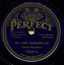 PRAIRIE RAMBLERS (Do Lord Remember Me / This World) COUNTRY GOSPEL 78 RPM RECORD