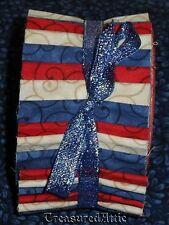 """Honey Bun Quilting Fabric 21~1.5"""" Red Blue Cream Off White Americana Quilt"""