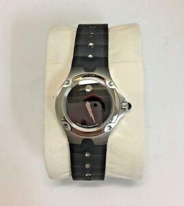 Movado Sports Edition 84 G4 1851.0 Black Rubber Strap Ladies Watch
