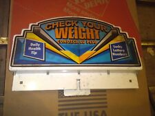 impulse coin operated arcade vending weight scale cabinet part #100