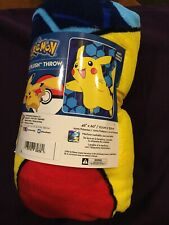 "Pokemon Super Plush Throw 46"" X 60"" New"