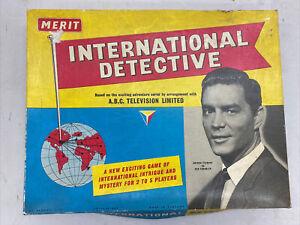 INTERNATIONAL DETECTIVE BOARD GAME MERIT A.B.C.TELEVISION