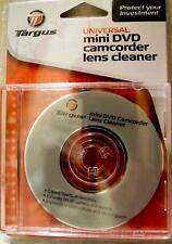 NEW TARGUS MINI DVD CD SONY DCR-DVD92 DVD100 DVD105 CAMCORDER LENS HEAD CLEANER