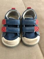 Boys See Kai Run Blue Red Sneakers Shoes Size 4