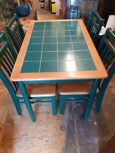 Tiled Top Dining Table and 4 Chairs