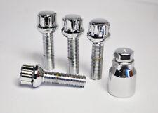 4 x M14 x 1.5, 40mm Thread, Radius Locking Wheel Bolts (Zinc)