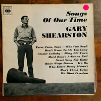 Gary Shearston SONGS OF OUR TIME rare Australian 60s folk song LP CBS Records