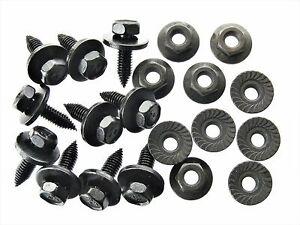 Mopar Body Bolts & Flange Nuts- M6-1.0 x 20mm Long- 10mm Hex- 20 pcs (10ea) #125