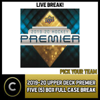 2019-20 UPPER DECK PREMIER HOCKEY 5 BOX (FULL CASE) BREAK #H997 - PICK YOUR TEAM