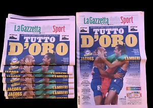 La Gazzetta dello Sport - 2/8/2021 - Oro Italia Jacobs Tamberi - Olimpiadi Tokyo