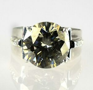 Free Delivery 11.85 Ct Champagne Diamond Solitaire Men's Engagement Halo Ring