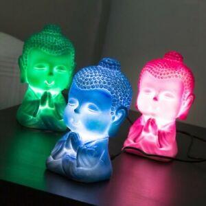 Baby Buddha LED Lampe Betrieben Von USB Kabel. Grün, Rosa & Blau Nachtlicht
