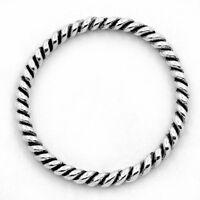 50 Antik Silber Geschlossen Ring 18mm D.B24079