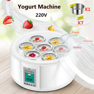 1.5L Yoghurt Maker Rice Wine Automatic Machine With 7 Glass Jars Gift Home New