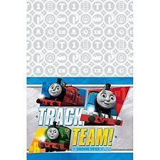 Thomas The Train Tank Birthday Table Cover Measures 54 in x 96 in, 36 sq ft