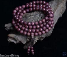 108 8mm Peltogyne Prayer Beads Wood Buddha Meditate Necklace  Japa Mala Yoga