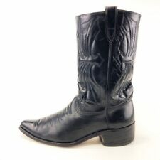 Sears Vintage Black Leather Cowboy Western Boots Mens Size 10.5D