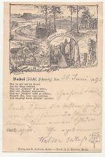 Vorläufer Ak Bastei Sächsische Schweiz Ganzsache 1895 selten ! (A1632
