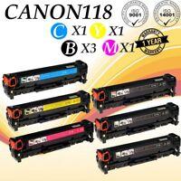 6PK CANON 118 Toner Compatible For Canon ImageCLASS MF8380CDW MF8580CDW MF726Cdw