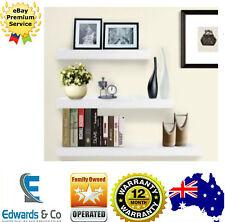 3pcs Wall Floating Shelf Set Concealed Shelves Bookshelf Shop Display White