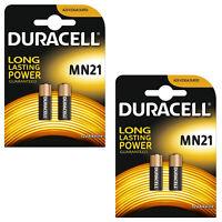 2X Pack Of 2 Duracell MN21 A23 12V Battery 23A LRV08 K23A E23A V23GA 3LR50 8F10R