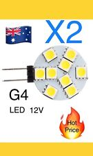 2pcs G4 Warm White 9 LED 5050 SMD Light Lamp Bulb DC 12V CS Globe