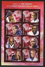 SIERRA LEONE 2016 TRIBUTE TO HEROES IN THE FIGHT AGAINST EBOLA SHEET II MINT NH