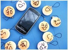 10 Lot a variety of cartoon face Squishy Buns Cell Phone Hang Rope Straps Charms